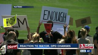 Reaction to changes announced by mayor, police chief