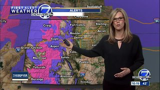 Light snow possible for Denver Friday