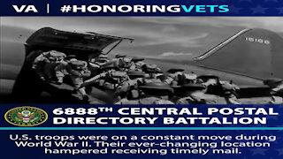 HonoringVets: 6888th Central Postal Battalion