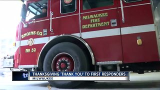 Thanking first responders this Thanksgiving