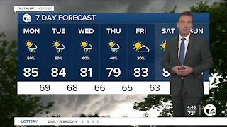 Metro Detroit Forecast: Humidity and chance of storms rising
