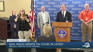 Colorado Gov. Jared Polis announces non-essential businesses to reduce at-work employees