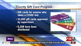 UPDATE: Public Health gives 5,208 gift cards to residents tested for COVID-19