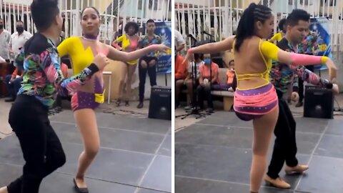 One-legged woman is a world class salsa dancer