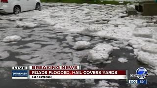 Storms bring hail, flooding to Denver metro area on Wednesday