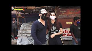 Rahul Vaidya With Disha Parmar Snapped Doing Some Last Minute Shopping As Rahul Leaves For Cape Town