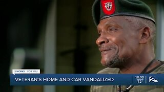 Local veteran wants answers after house, truck vandalized