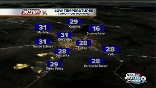 Freeze Warning in effect through 9 a.m. Sunday