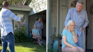Man serenades 90-year-old couple for their 67th anniversary
