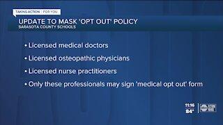 Sarasota County School Board updates its mask exemption forms for school mask mandate