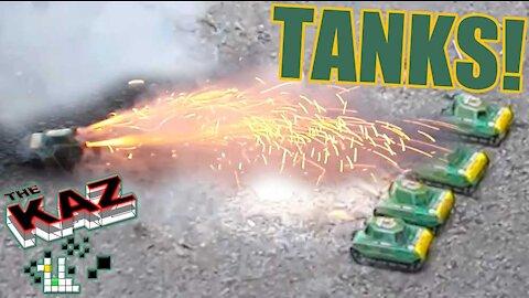 Army Tank Fireworks
