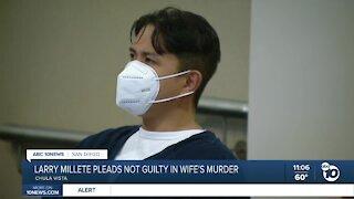 Larry Millete pleads not guilty in wife's murder