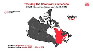 COVID 19 Confirmed Cases In Canada As Of April 8