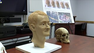 PHOTOS: Stark County officials unveil forensic reconstruction of unidentified man found in rural area in 2020