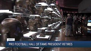 Football HOF President Retires