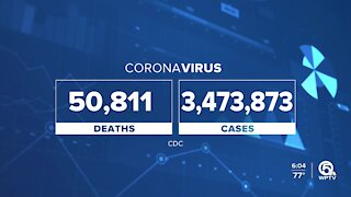 Florida becomes fourth state to surpass 50,000 coronavirus deaths
