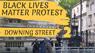 BLM PROTEST DOWNING STREET - LONDON, ENGLAND - 6TH JUNE 2020