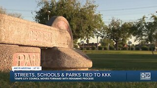 Tempe to move forward with renaming parks, streets linked to KKK members