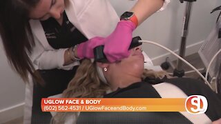 UGlow Face & Body offers a device that stimulates collagen production