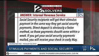 Problem Solvers Coronavirus Hotline: Stimulus Payments And Social Security