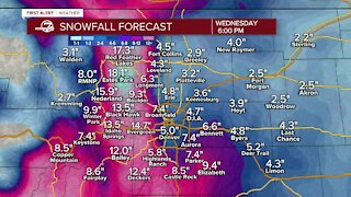 Snowfall timeline: See how much snow falls when in Colorado, Denver metro area