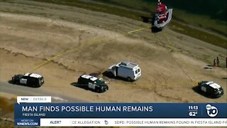 Man finds possible human remains on Fiesta Island
