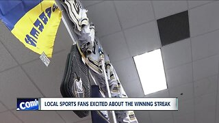 Local sports fans excited about the winning streak