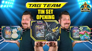 Tag Team Tin Set | Tag Team Searching | Pokemon Cards Opening