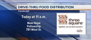 Drive-thru food distribution in Pahrump
