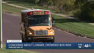 Johnson County parents concerned about crowded buses