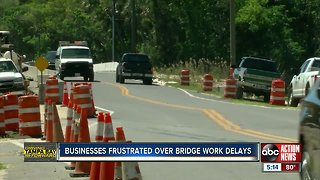 Construction delays on Homosassa bridge continue to frustrate businesses and residents
