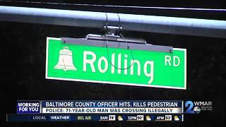 Baltimore County Officer Hits, Kills Pedestrian