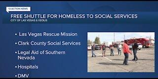 Las Vegas launching free shuttle service for homeless