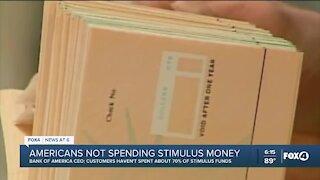 Americans not spending stimulus money