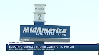 Canoo selects Oklahoma for electric vehicle manufacturing facility