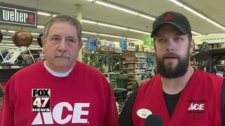 Hardware employees save a woman's life