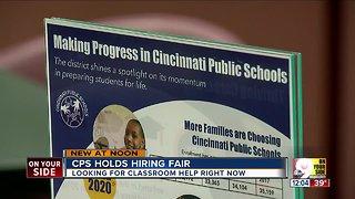 Cincinnati Public Schools hosts job fair