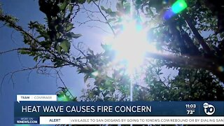 October heatwave causes fire concern