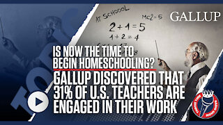 Time to Begin Homeschooling? 31% of Teachers Are Engaged at Work