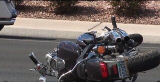 Police investigate serious motorcycle crash in west Las Vegas