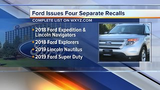 Ford issues four separate safety recalls that affect over 30K vehicles