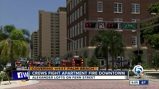 Fire guts apartment in West Palm Beach