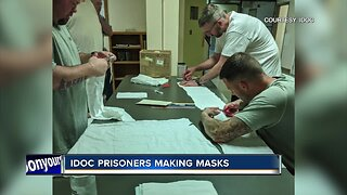 Idaho Department of Corrections prisoners making face masks