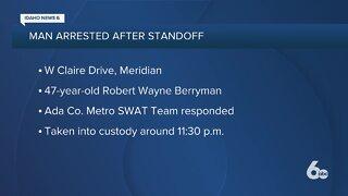 Police: Meridian man arrested after standoff