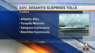 Florida tolls suspended by Governor DeSantis