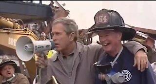 George Bush's Famous Bullhorn Speech At Ground Zero 9/14/01