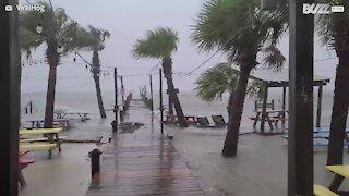 Hurricane Sally slams into beach and destroys Florida pier