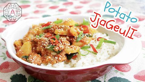 Korean Spicy Potato and Spam Stew (감자 짜글이, GamJa JjaGeulI) | Aeri's Kitchen