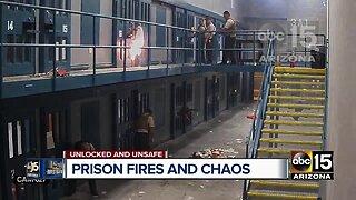 Inmates setting fires at Arizona prison