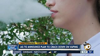 California attorney general to unveil plan to crack down on vaping